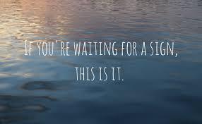 its a sign